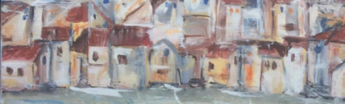 Ponedeljek, 2. 12. 2019  – Razstava akademskega slikarja Jureta Crnkoviča na stopnišču knjižnice